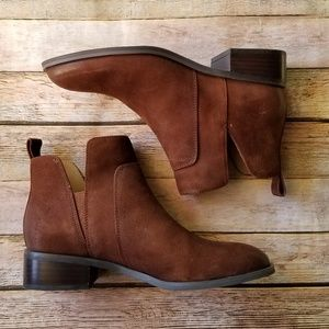 Franco Sarto Brown Suede Leather Booties